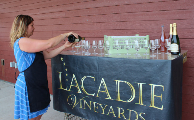 Wine tasting at l'Acadie Vineyards (Nova Scotia)
