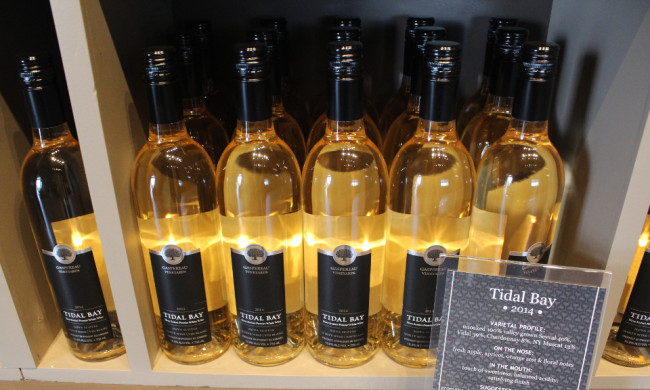 Tidal Bay wine at Gaspereau Vineyards (Nova Scotia)