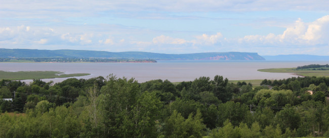 View of Minas Basin and Cape Blomidon from Millenium Trail