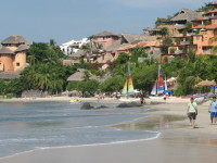 Beach in Zihuatanejo (state of Guerrero)