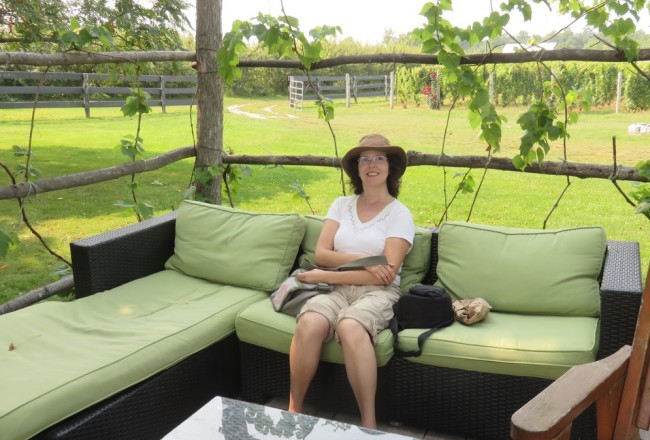Relaxing at Waupoos Winery (Picton)
