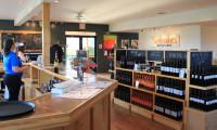 Sandbanks Estate Winery shop and sampling room