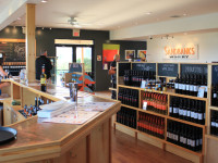Sandbanks Estate Winery shop and sampling room