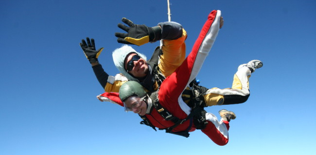 First (and only) tandem skydive in New Zealand