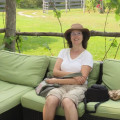 Relaxing at a winery in Prince Edward County (Ontario)
