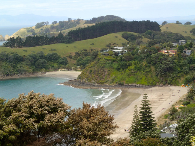 Palm Beach from viewpoint (Waiheke, New Zealand)