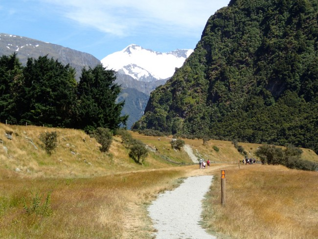 The start of the Rob Roy hike, Mount Aspiring National Park