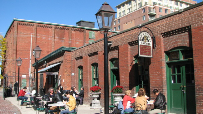 People sitting on a patio, Toronto (10 things to do in Toronto in spring)