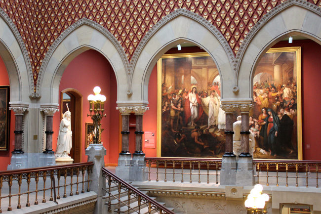 Inside Pennsylvania Academy of the Fine Arts, Philadelphia
