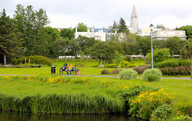A park in Reykjavic, Iceland