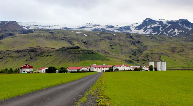 Glacier-covered Eyjafjallajökull volcano, Iceland