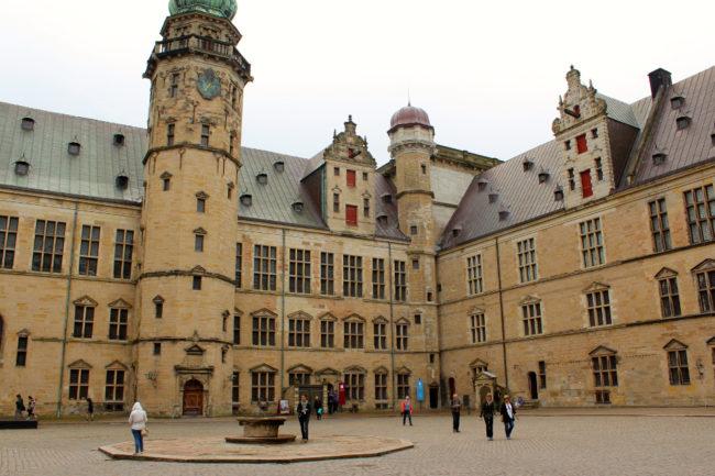 Kronborg Castle's courtyard, Helsingør, Denmark