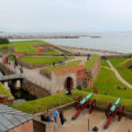 Kronborg Castle guarding the Sound, Helsingør, Denmark (Hamlet's Castle)