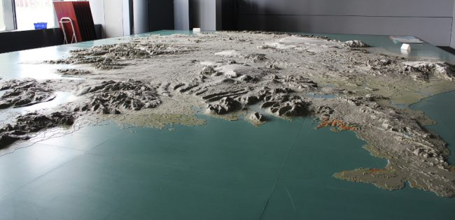 3D map of Iceland at Reykjavic City Hall