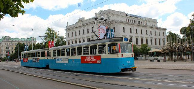 Tram in Göteborg, Sweden