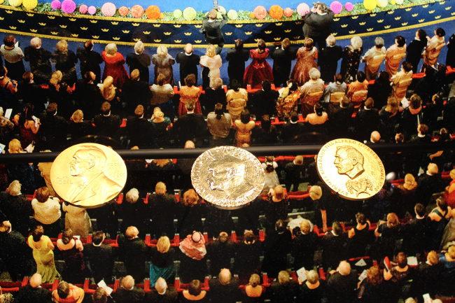 Nobel medals at Nobel Museum, Stockholm