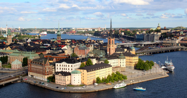 View of Stockholm from City Hall tower