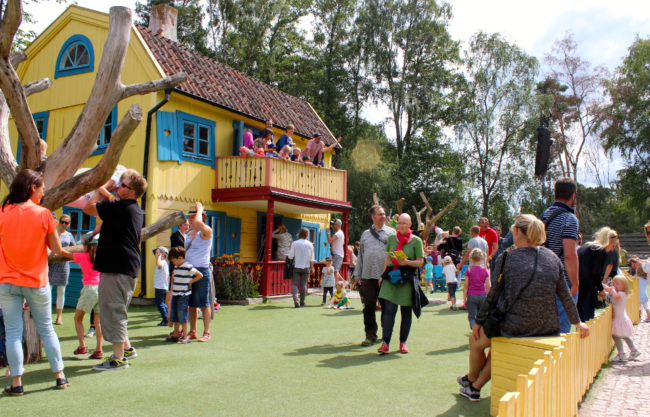 Pippi Longstocking's house is one of the most popular in Astrid Lindgren's World