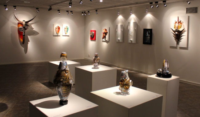 Glasswork gallery in Målarås