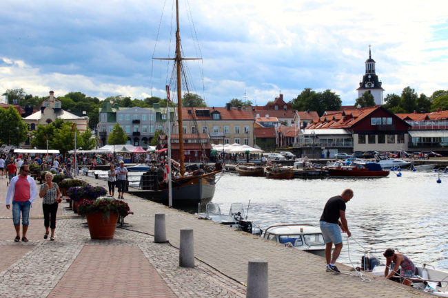 Västervik's harbour
