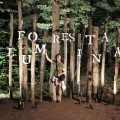 Posing with the Foresta Lumina sign, Coaticook