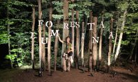 Posing with the Foresta Lumina sign