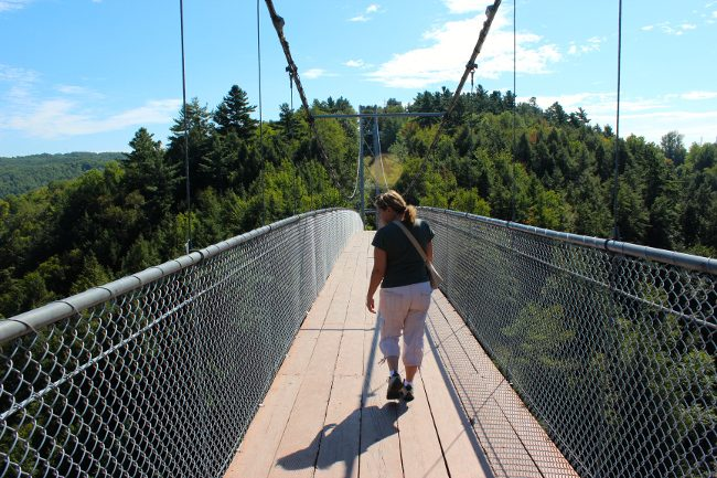 Coaticook suspension bridge