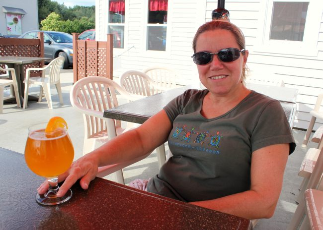 Craft beer at Coaticook Microbrewery