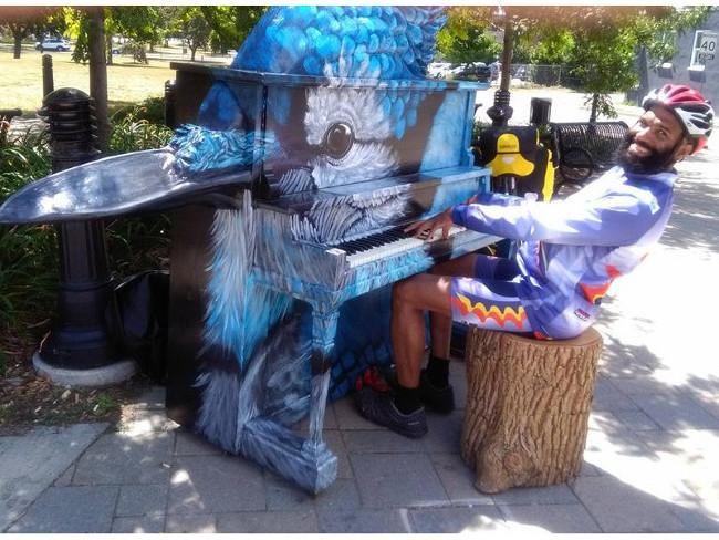 Public piano, Cobourg, Ontario