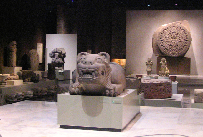 Inside the Anthropological Museum, Mexico City
