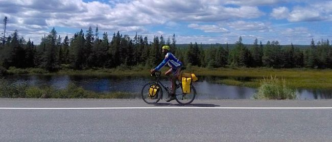 South of South Brook, Newfoundland - across Canada by bike