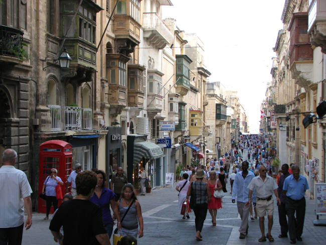 Valletta street (Malta in photos)