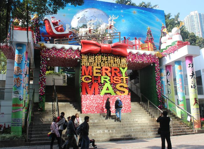 Hong Kong Christmas display - Christmas traditions