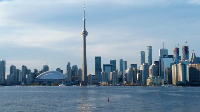 Toronto skyline seen from Toronto Islands (Toronto layover)
