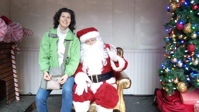 Me with Santa (Toronto Christmas Market) - Christmas traditions