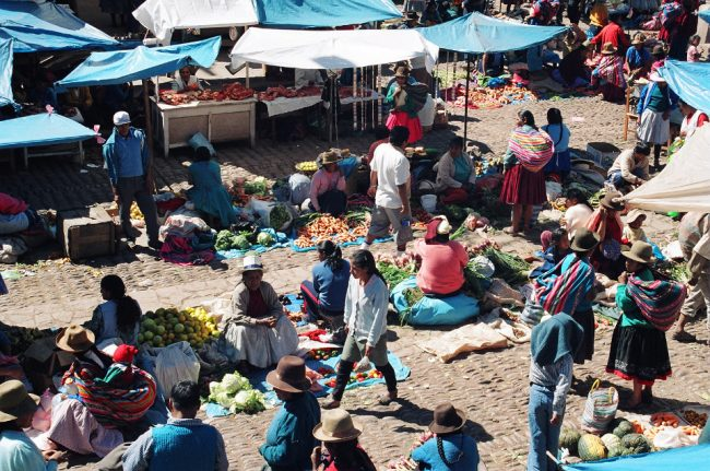 Market in Pisac, Peru (best safety tips)