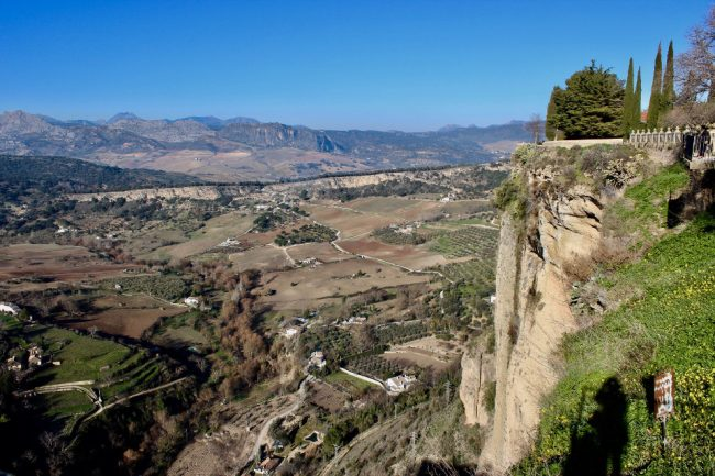 View from the southern edge of the New Town (Ronda in one day)