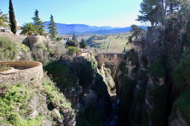 Vview of the Old Bridge from the Jardines de Cuenca (Ronda in one day)