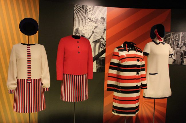 Uniforms of the UK and USA hostesses, Expo 67 at the McCord Museum, Montreal (to do in Montreal this summer)