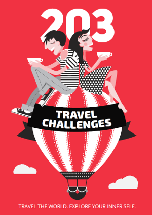 203 travel challenges (book cover)