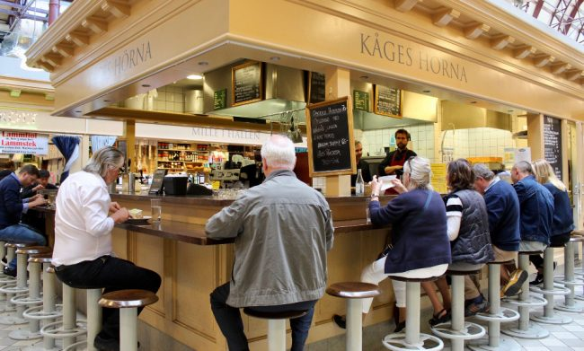 Markey eatery in Goteborg, Sweden (save money in Europe)