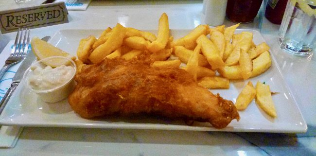 Fish & chips at Quinlans Seafood Bar, Killarney (things to do in Killarney)