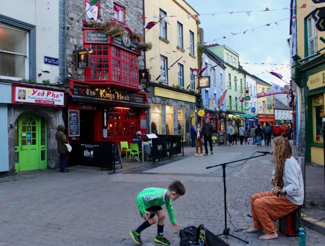 Colourful main street in Galway (impressions of Ireland)