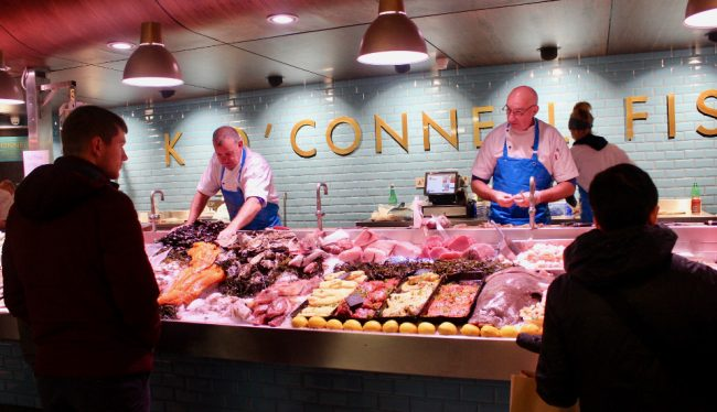 Fish stall at the English Market in Cork (impressions of Ireland)