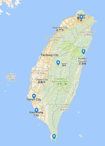Taiwan itinerary map (why go to Taiwan)