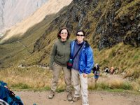 Me and my travel companion on the Inca Trail, Peru