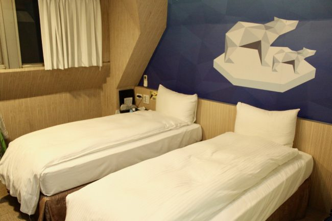 Room at the Morwing Fairytale Hotel in Taipei (solo travel in Taiwan)