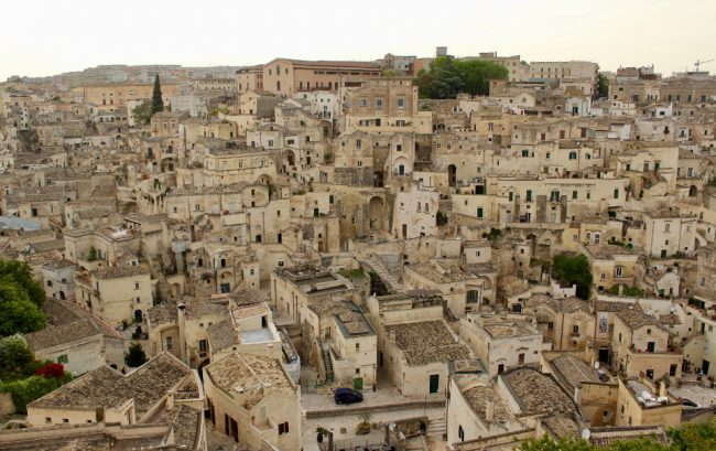 View of Matera's Sassi from the Cathedral (Matera in photos)