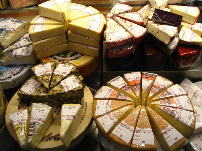 Cheeses at St-Lawrence Market, Toronto (Montreal or Toronto)