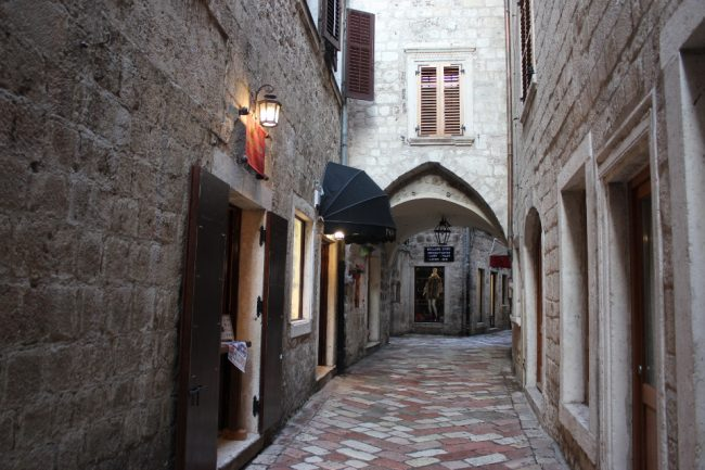 A street in Old Town Kotor (guide to Kotor)